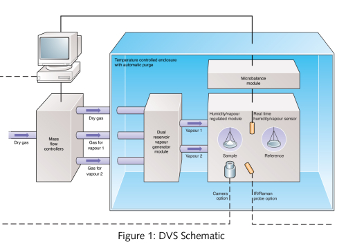 Dynamic Vapor Sorption (DVS) Schematic